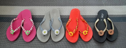 DIY flipflops de distintos colores