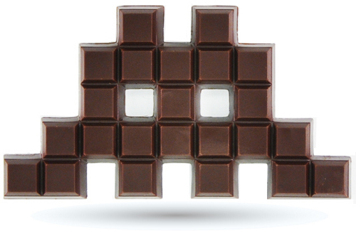 DIY chocolate geek marcianitos marciano space invader