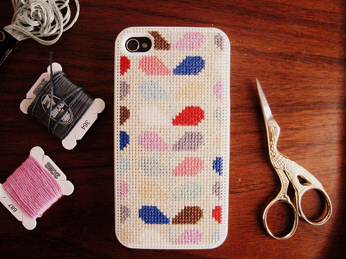 DIY iphone case cover cross stitch ideas patterns