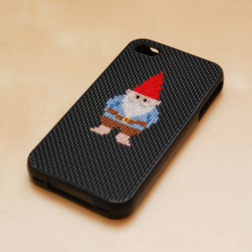DIY fundas de iphone personalizadas cross stitch bordado patrones