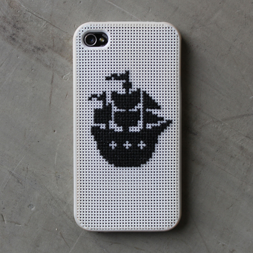 DIY patron punto de cruz iphone cross stitch