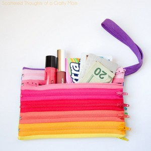 DIY tutorial monedero cremalleras arcoiris