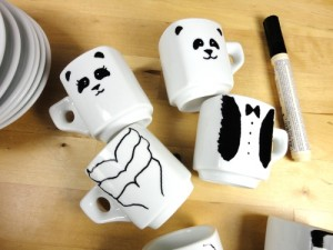 DIY tutorial tazas pintadas ideas regalo novios bodas