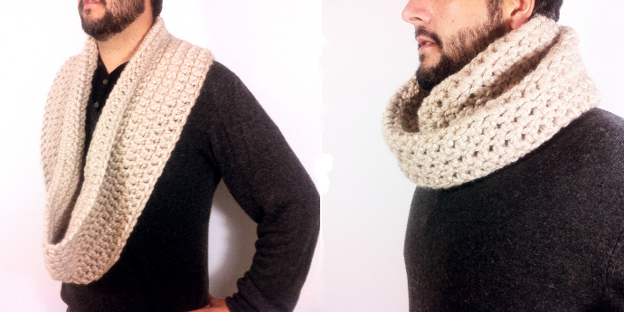 Tutorial como tejer una bufanda infinita cuello doble a ganchillo crochet