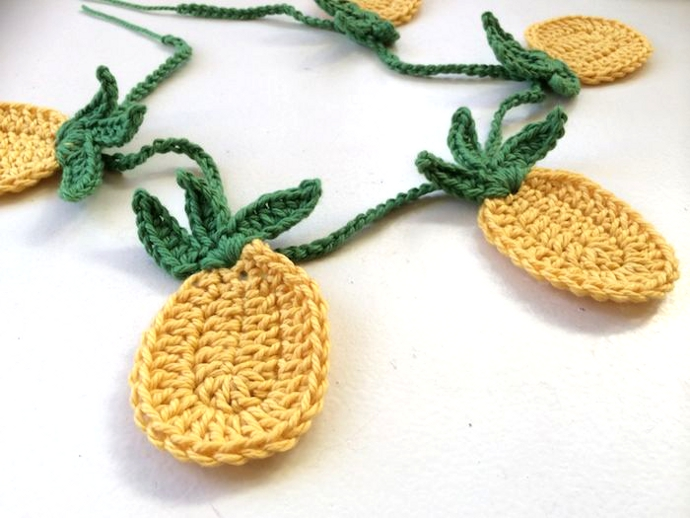 Adorno ananas crochet pineapples