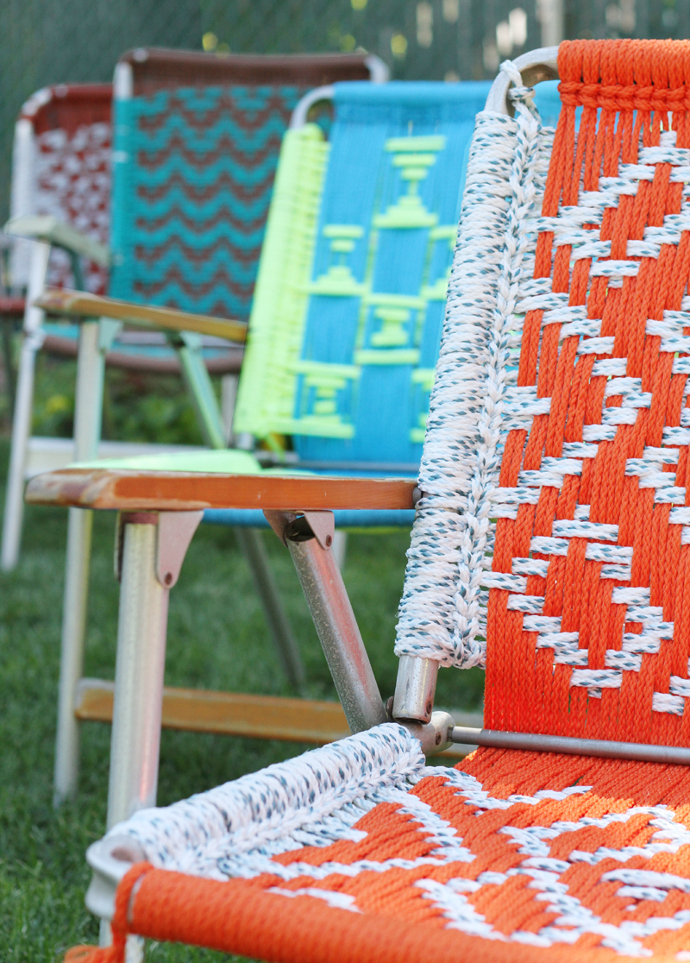 DIY weaved chairs tutorial cuerdas sillas playa