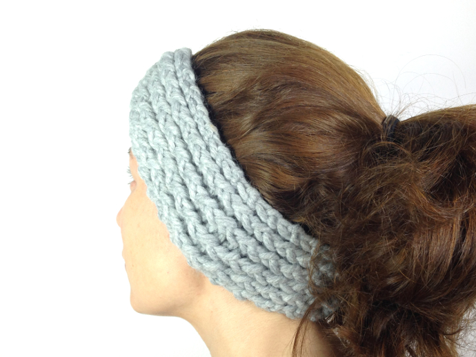 How to loom knit a turban headband