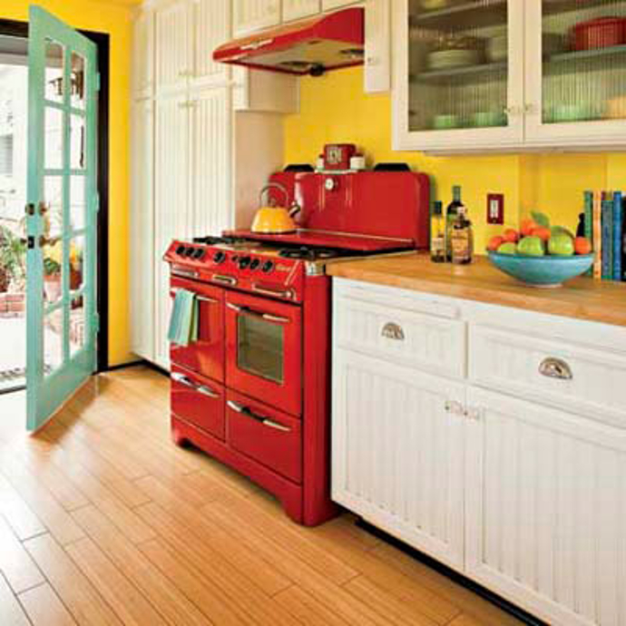 P ntate de optimismo y creatividad for Blue and yellow kitchen decorating ideas