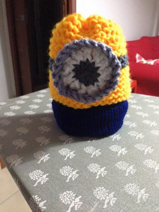 Loom knitted minion hat by Giovanni D.