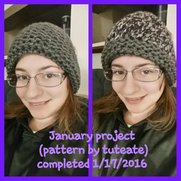 Loom Knitted reversible hat by Stephanie G-L