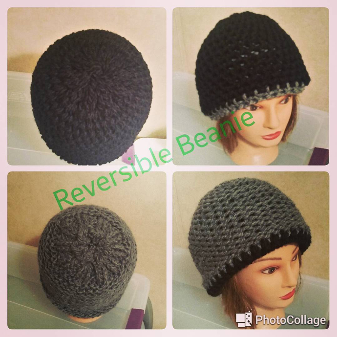 Loom knitted reversible hat by @loriwingfield