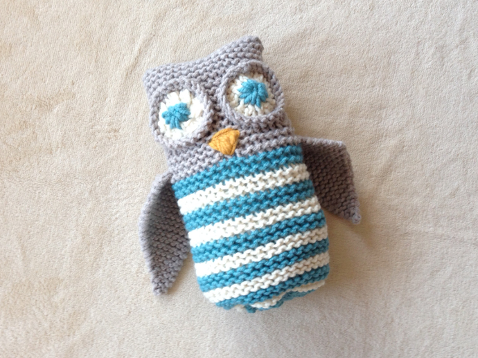 Tutorial para tejer un búho con telar / How to loom knit an owl tutorial