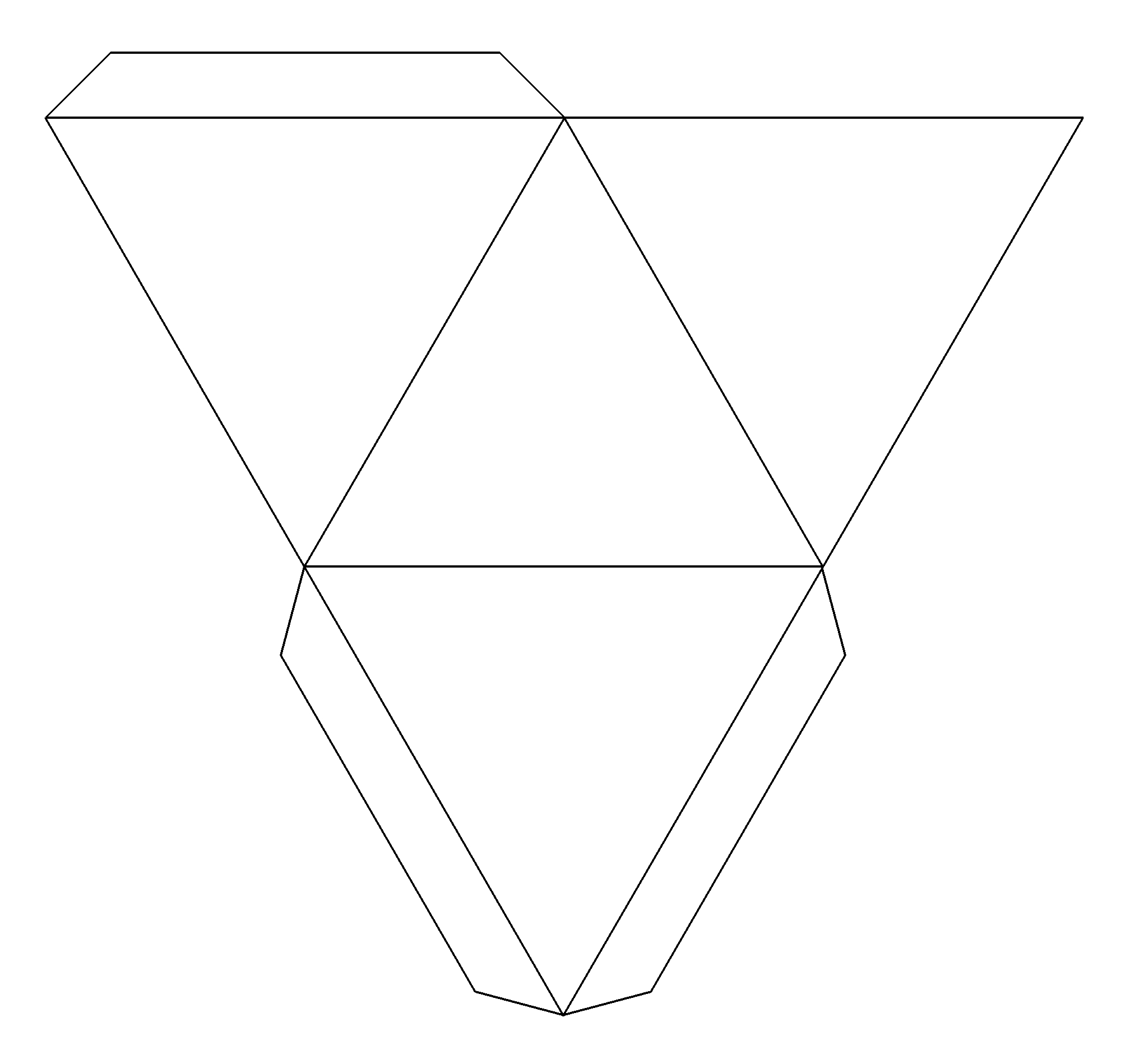 3D Cut out Pyramid Pattern submited images.