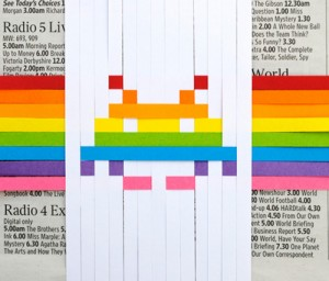 DIY adorno marcianito space invaders papel