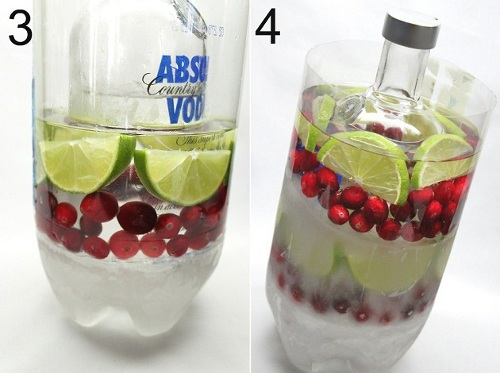 DIY tutorial hielo fiestas decoracion creativa frutas