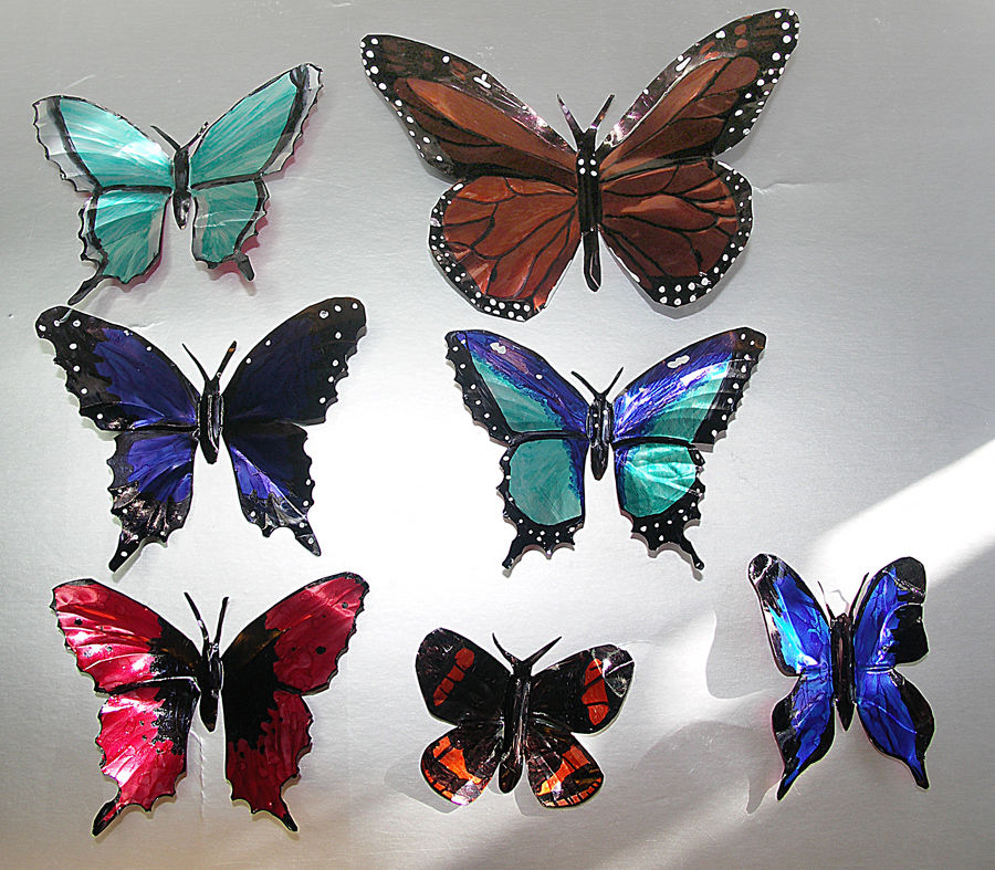 Butterflies Made From Soda Cans