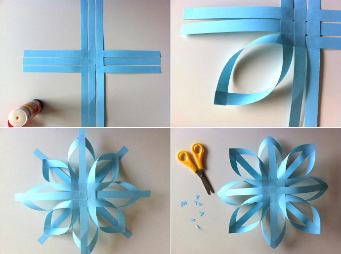 Adornos navide os diy con forma de estrella de papel - Adornos de navidad con papel ...