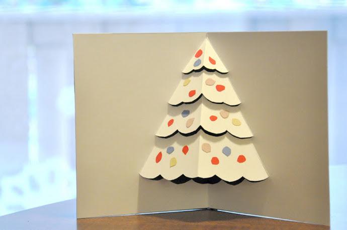 Postales navidad 3d manualidades