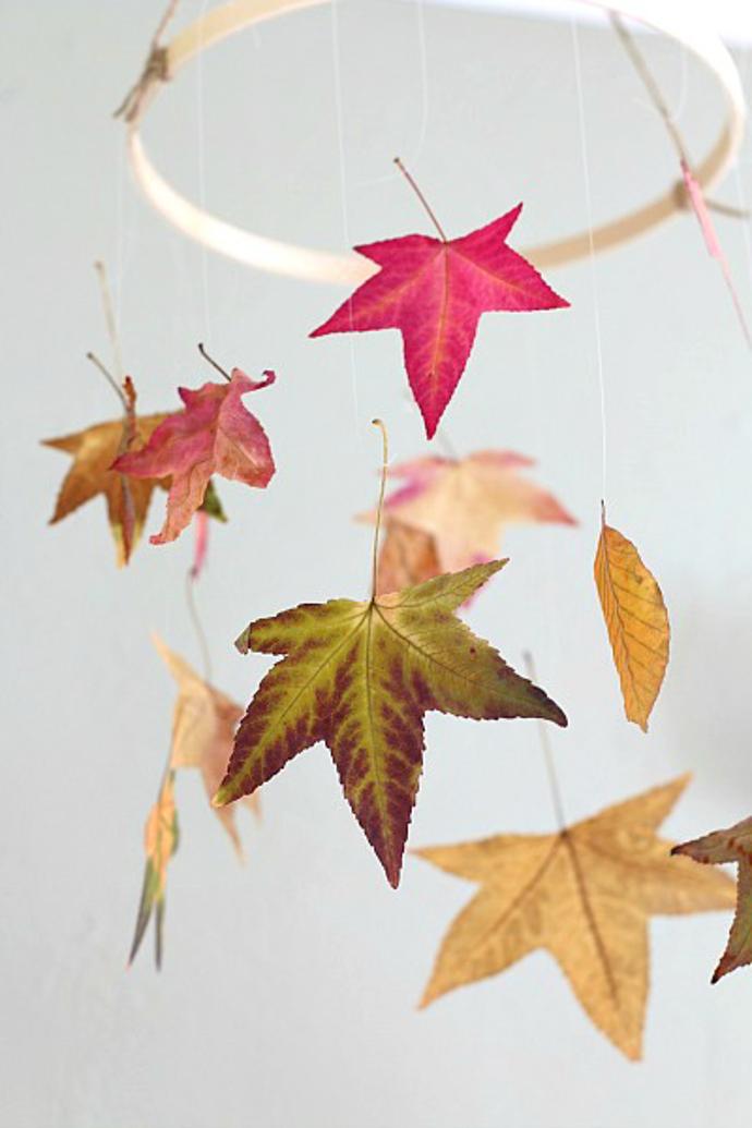 creative ideas making photo album - Ideas DIY Manualidades para otoño hechas con hojas secas