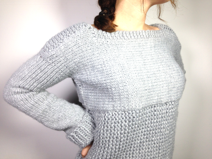 Loom knitted sweater jersey pullover