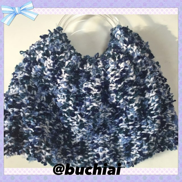 Loom knitted handle bag by @buchiai